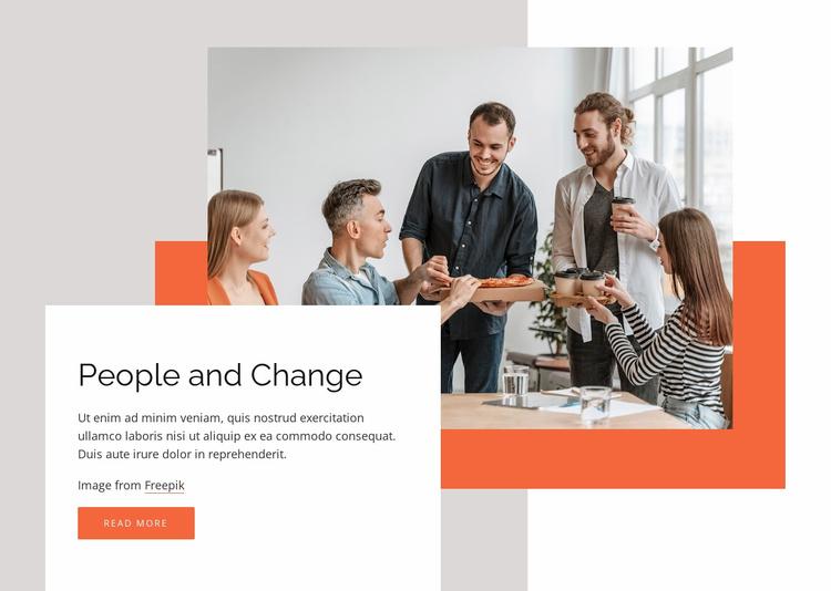 We work as one global team Website Template