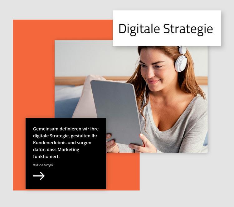 Digitale Strategie Website-Vorlage