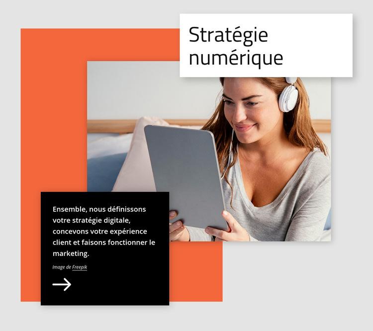 Stratégie digitale Modèle de site Web