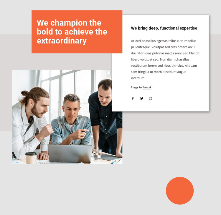 We can transform your business HTML Template