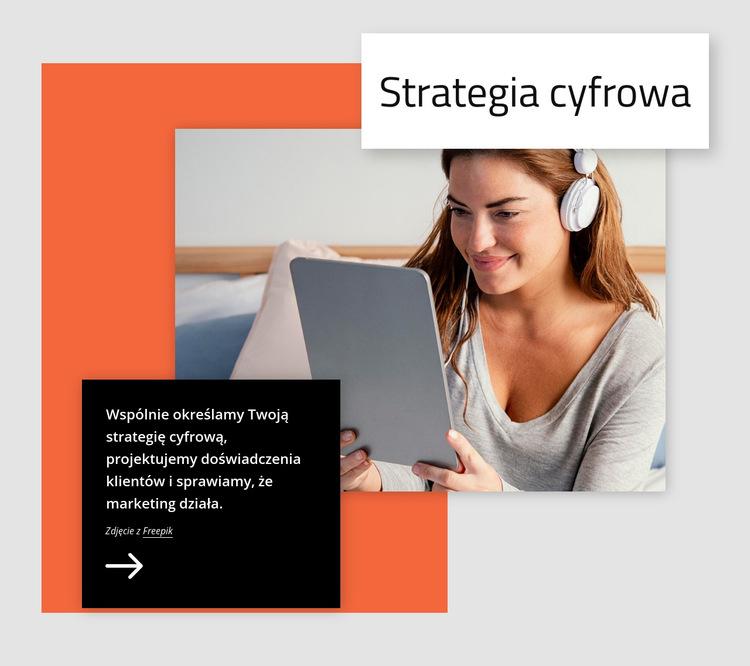 Strategia cyfrowa Szablon witryny sieci Web