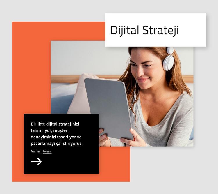 Dijital strateji Web Sitesi Şablonu