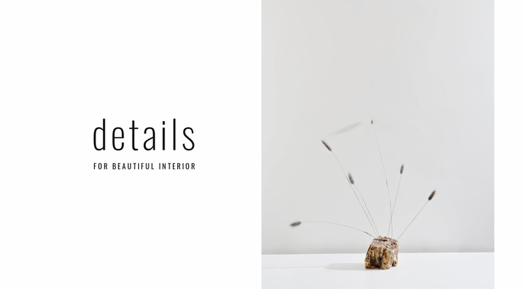 Details for beautiful interior Website Template