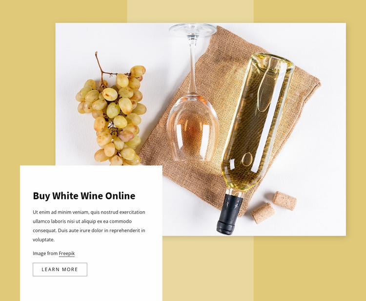 White wine Website Template