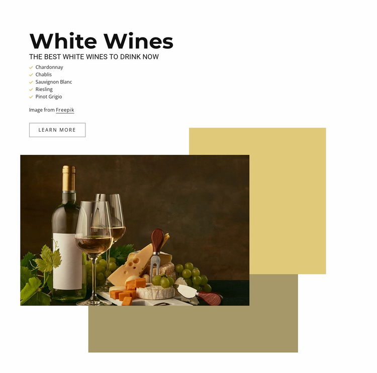 The best white wines Website Template