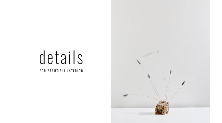 Details for beautiful interior WordPress Theme