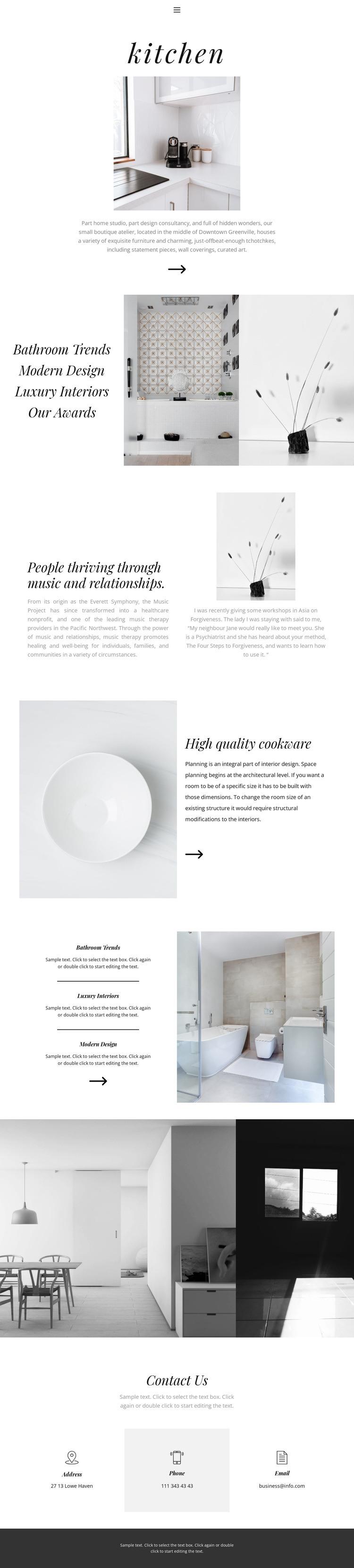 Turnkey interior Web Page Designer