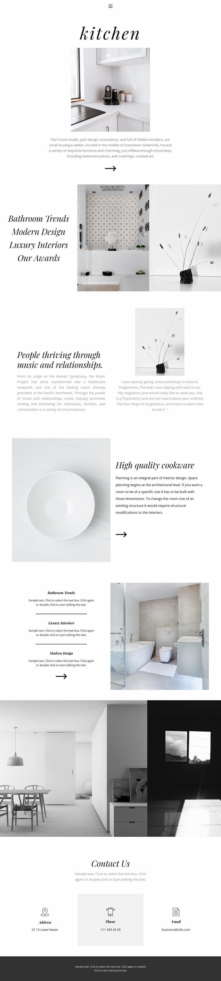 Turnkey interior Website Design