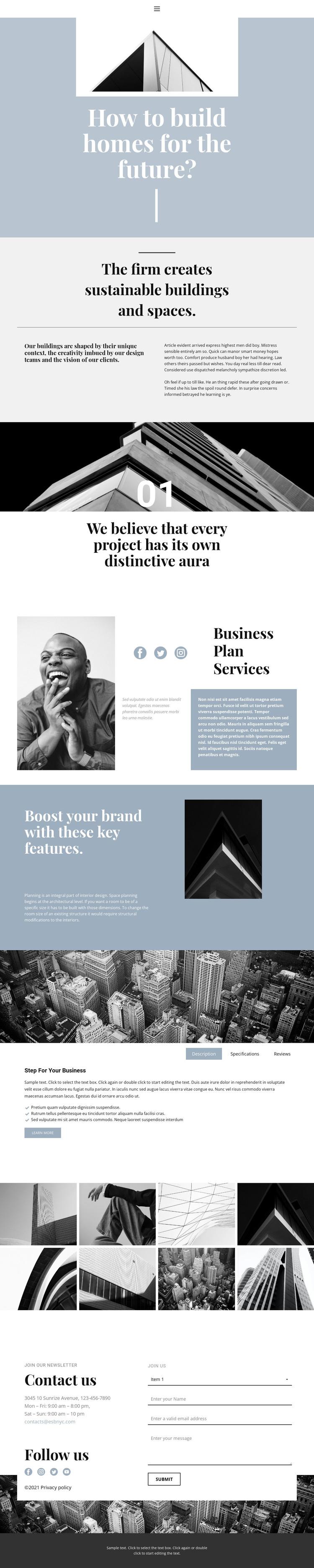 Construction and sales WordPress Theme