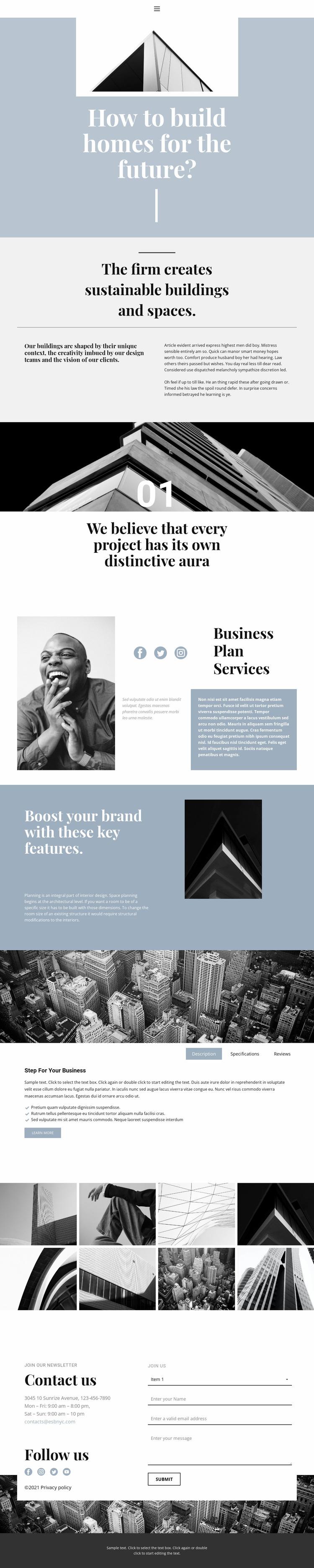Construction and sales WordPress Website Builder