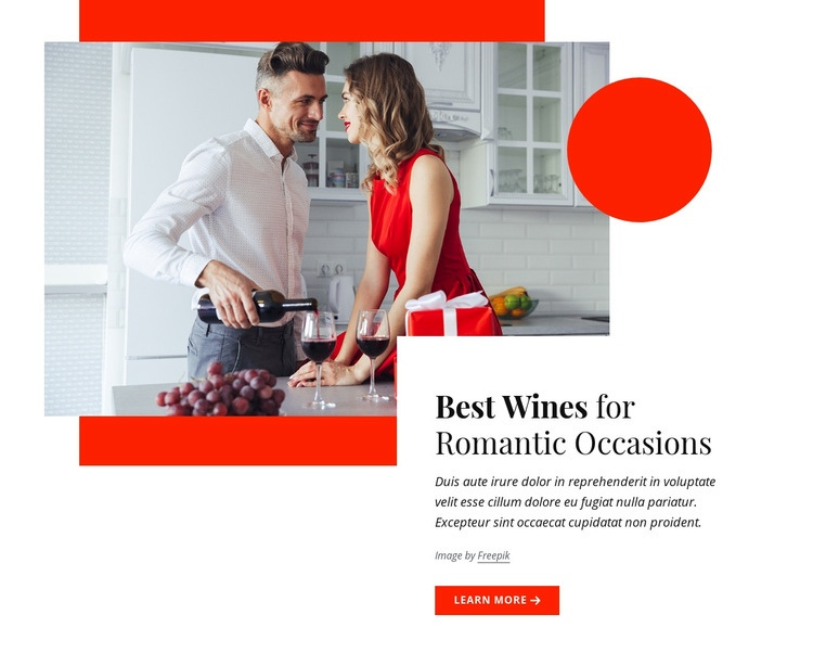Best wines for romantic occasions Html Code Example