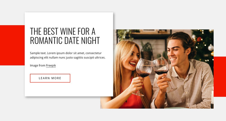 Wines for romantic date night HTML Template