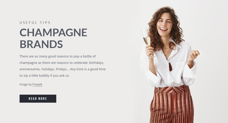 Champagne brands HTML Template