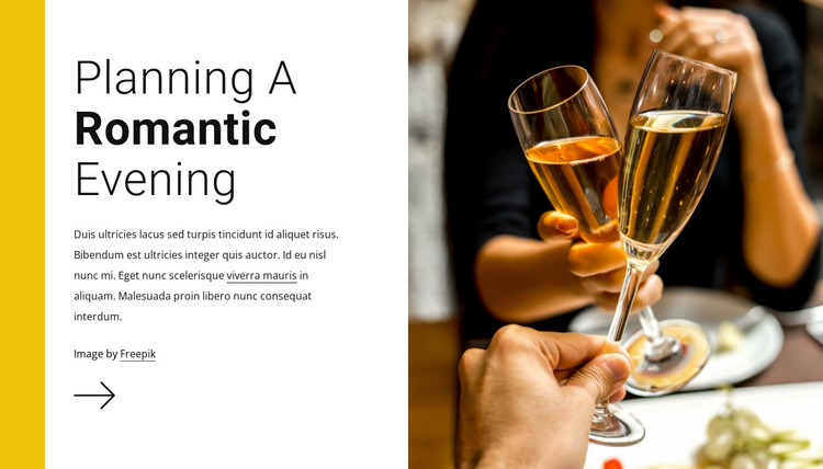 Romantic evening HTML5 Template