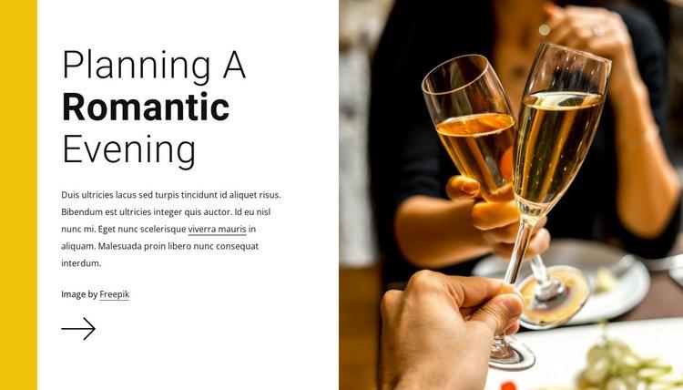 Romantic evening Web Page Designer