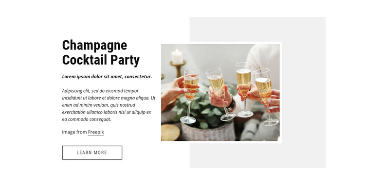 Coctail party Website Builder Software