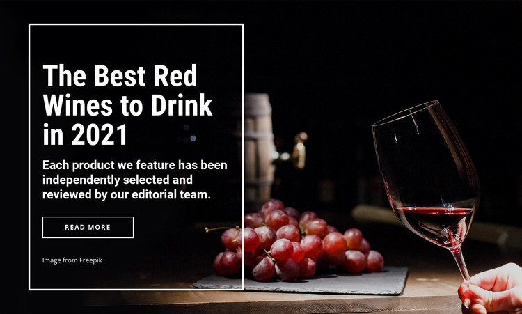 The best wines to drink HTML Template