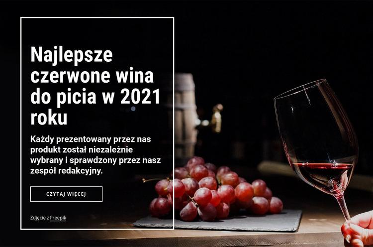 Najlepsze wina do picia Szablon Joomla