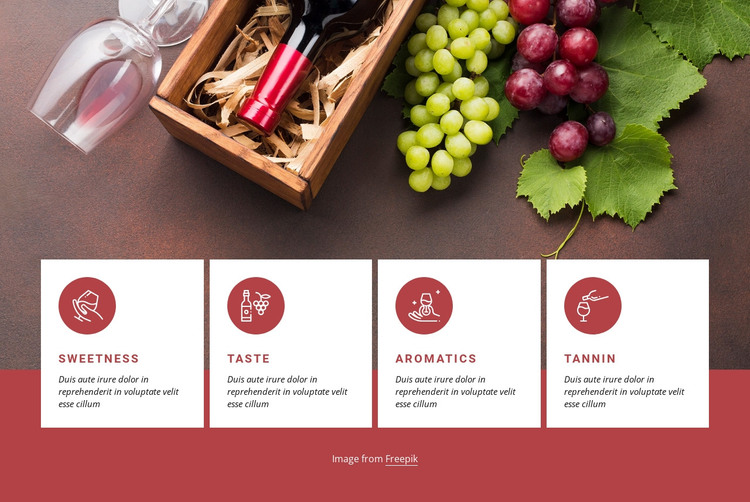 Getting started with wine HTML Template