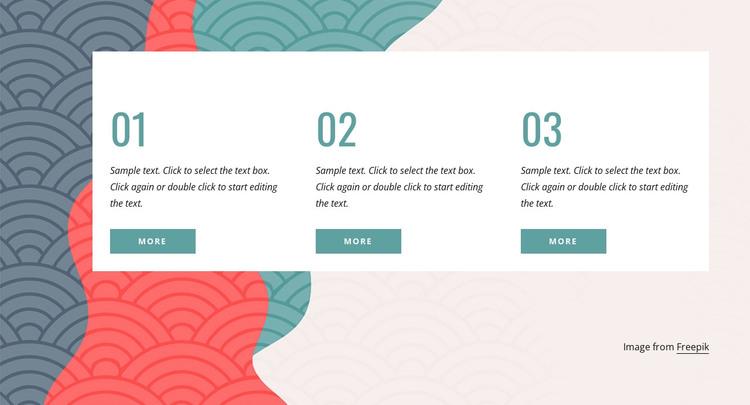 3 steps HTML Template