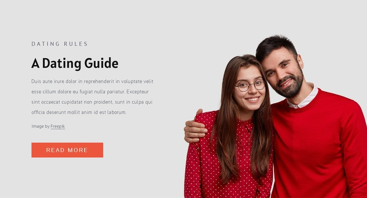 Modern dating rules CSS Template