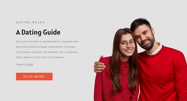 Modern dating rules HTML Template