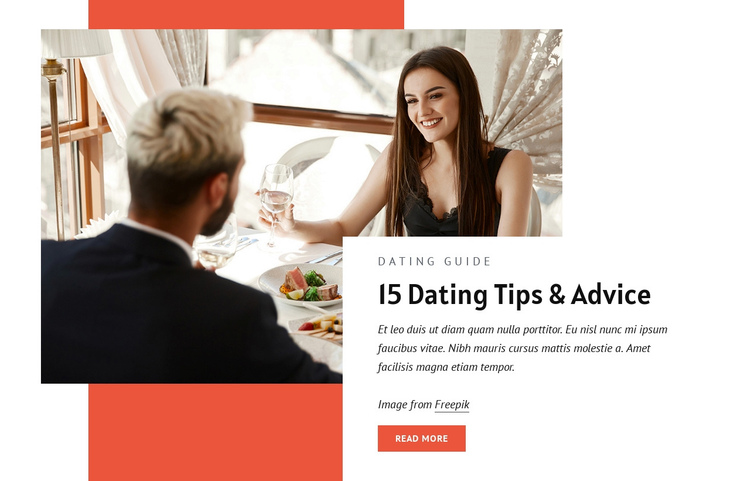 Dating tips and advice One Page Template