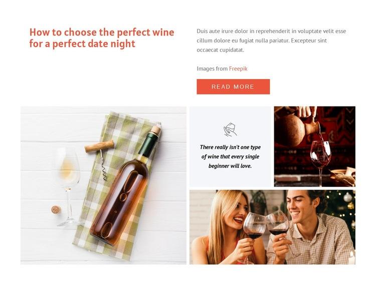 Perfect wine Web Page Design