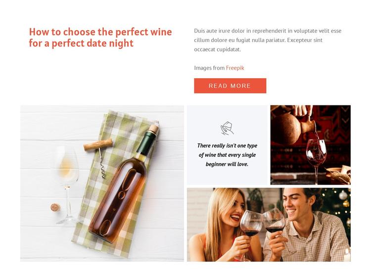 Perfect wine Website Builder Software