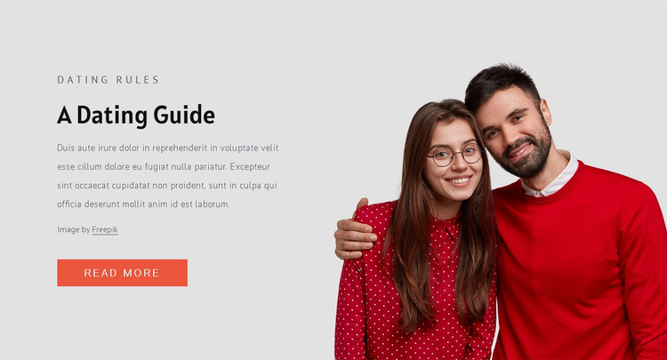 Modern dating rules Website Template