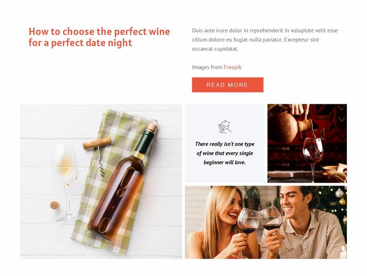 Perfect wine Website Template