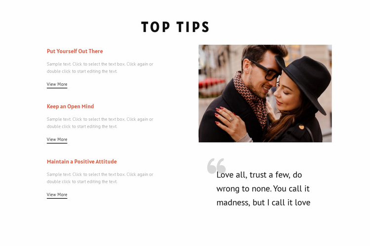 Essential tips for dating Website Template