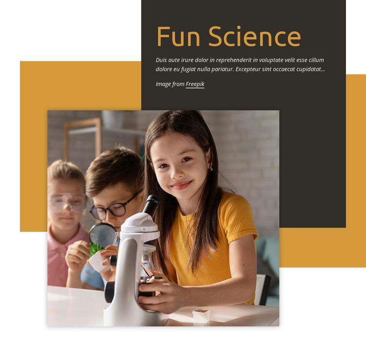 Fun science Website Mockup
