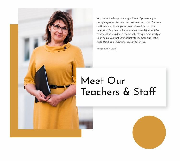 Meet out teachers Web Page Design