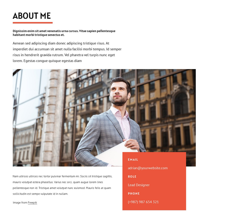 Designing and coding One Page Template
