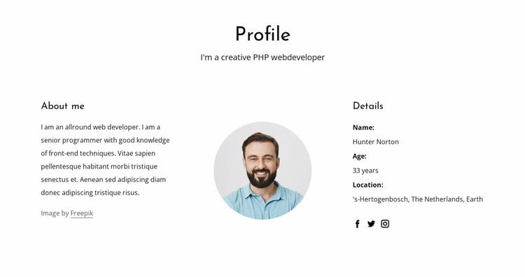 Web developer job profile Website Design