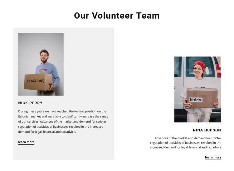 Volunteer team Html Code Example