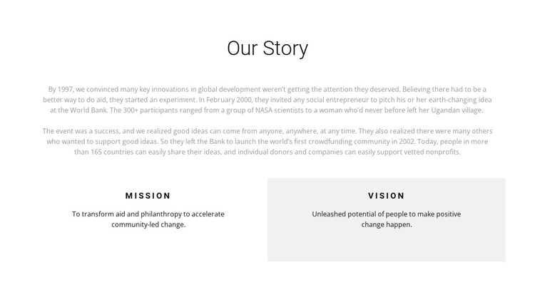 Hospice history HTML Template