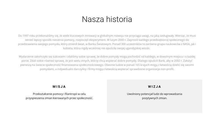 Historia Hospicjum Szablon witryny sieci Web