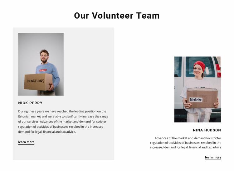 Volunteer team Website Template