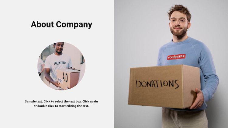 Charity history HTML Template
