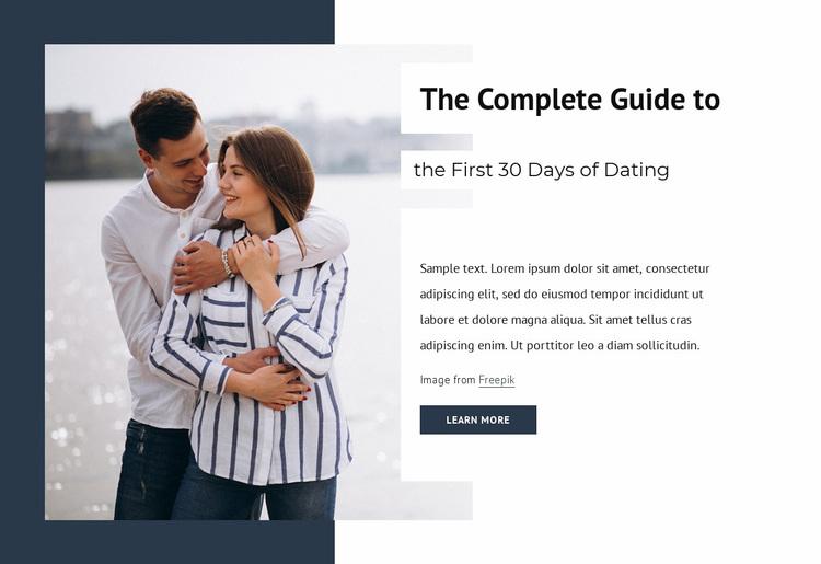 First 30 days of dating Website Design