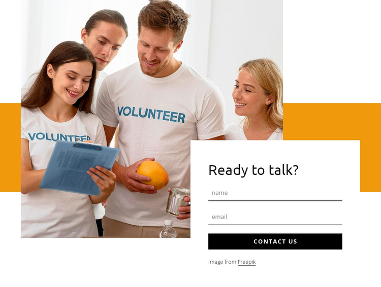 Contact info HTML5 Template