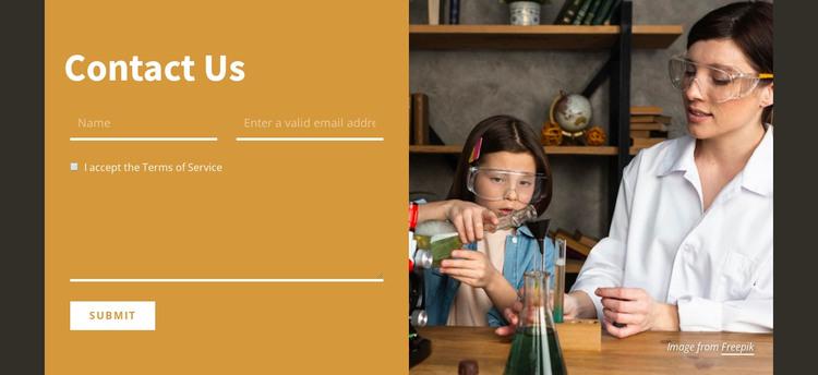 Contact the school WordPress Theme