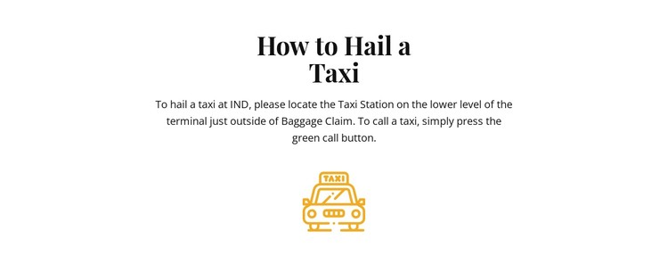 How to hall a taxi CSS Template