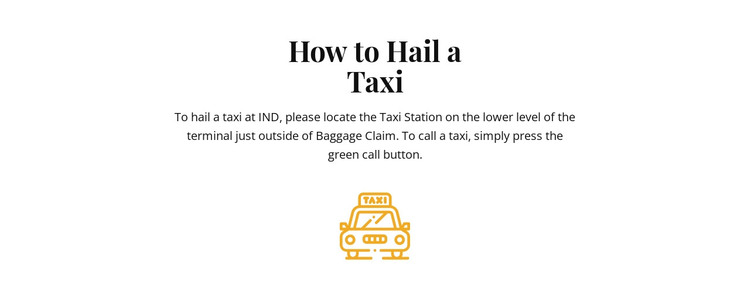 How to hall a taxi HTML Template