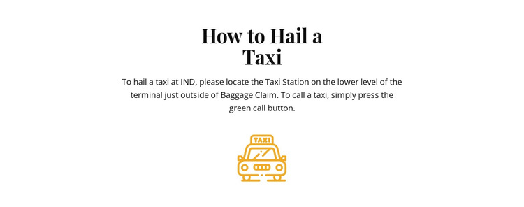 How to hall a taxi HTML5 Template