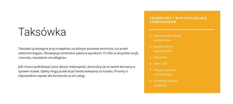 Taksówka Szablon witryny sieci Web