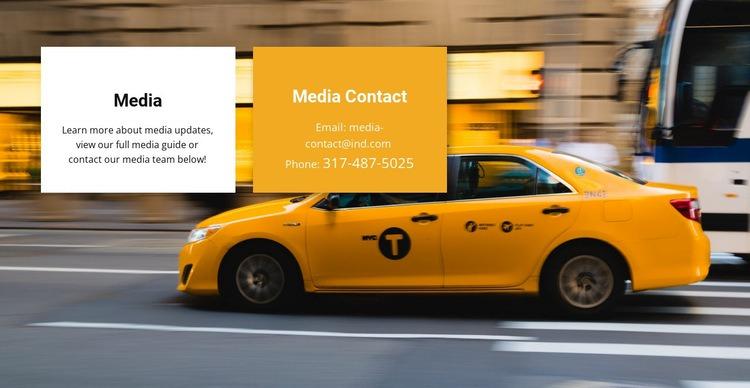 Media taxi Web Page Design