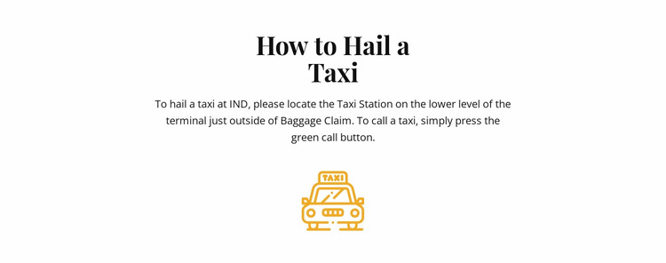 How to hall a taxi Website Mockup
